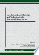 Non Conventional Materials and Technologies for Sustainable Engineering