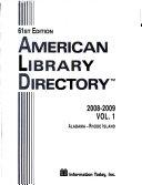 American Library Directory 2008 2009  2 Vol  Set
