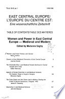 Women and Power in East Central Europe