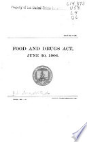 Food And Drugs Act June 30 1906