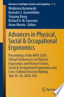 Advances in Physical  Social   Occupational Ergonomics