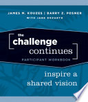 The Challenge Continues  Participant Workbook Book