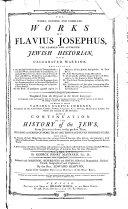 The Whole Genuine and Complete Works of Flavius Josephus