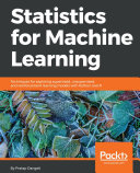 Pdf Statistics for Machine Learning