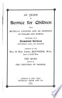 An Order of Service for Children Book