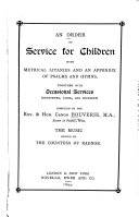 An Order of Service for Children