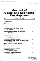 Journal Of Social And Economic Development