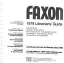 Faxon     Librarians  Guide