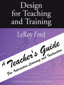 Design for Teaching and Training   A Teacher s Guide