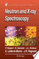 Neutron And X Ray Spectroscopy Book PDF
