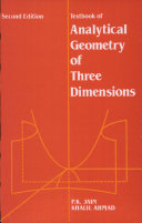 A Textbook Of Analytical Geometry Of Three Dimensions