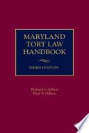 Maryland Tort Law Handbook