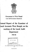 Annual Report of the Examiner of Local Accounts on the Working of the Local Audit Dept