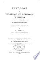 Text book of Physiological and Pathological Chemistry Book PDF