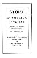 A Story Anthology  1931 1933