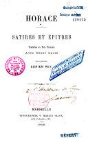 Satires et Epitres ebook