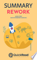 Rework By Jason Fried And David Heinemeier Hanson Summary  Book PDF