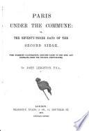 Paris Under The Commune Book PDF