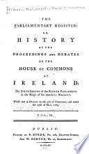 Parliamentary Register Book