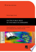 Read Online On the public role of the Bible in Zimbabwe For Free