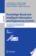 Knowledge Based and Intelligent Information and Engineering Systems  Part I