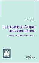 La nouvelle en Afrique noire francophone Pdf