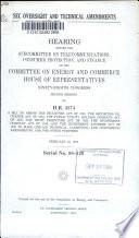 Sec Oversight And Technical Amendments