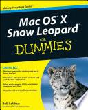 Mac Os X Snow Leopard For Dummies