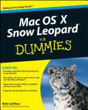 Pdf Mac OS X Snow Leopard For Dummies Telecharger