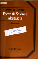 Forensic Science Abstracts
