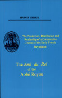 Pdf The Production, Distribution and Readership of a Conservative Journal of the Early French Revolution Telecharger