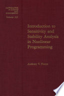 Introduction to Sensitivity and Stability Analysis in Nonlinear Programming