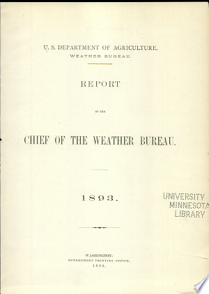 Read Online Report of the Chief of the Weather Bureau Full Book