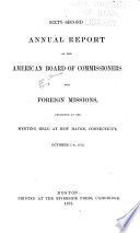 Annual Report of the American Board of Commissioners for Foreign Missions