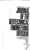 Journal of the Geotechnical Engineering Division