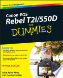 Canon Eos Rebel T2i 550d For Dummies