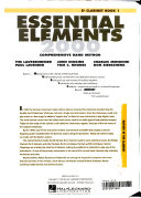 Essential Elements 2000 Comprehensive Band Method Book