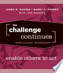 The Challenge Continues, Participant Workbook
