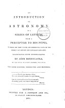 An introduction to astronomy  in a series of letters