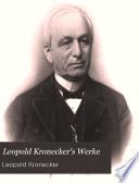 Leopold Kronecker's werke