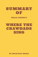 Summary of Delia Owens's Where the Crawdads Sing [Pdf/ePub] eBook