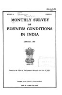 Monthly Survey of Business Conditions in India