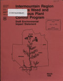 Intermountain Region Noxious Weed and Poisonous Plant Control Program