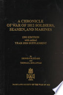 A Chronicle Of War Of 1812 Soldiers Seamen And Marines
