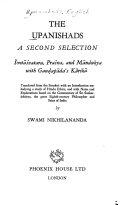 The Upanishads  a Second Selection  Svet  svatara  Pra  na  and M  ndukya with Guadap  da s K  rik