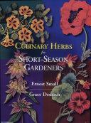Culinary Herbs for Short season Gardeners