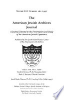 The American Jewish Archives Journal  , Bände 49-52