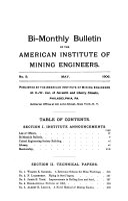 Bi monthly Bulletin of the American Institute of Mining Engineers