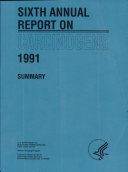 Pdf 6th Annual Report on Carcinogens (1991) Telecharger