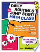 Daily Routines to Jump Start Math Class  Elementary School